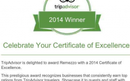 Certificate of Excellence - Trip Advisor 2014