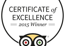Certificate of Excellence - Trip Advisor 2015